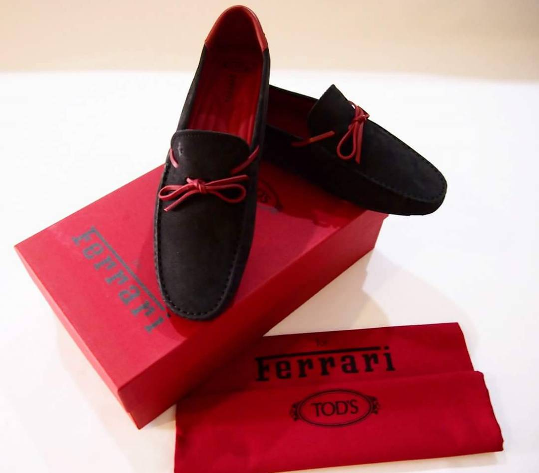 authentic ferrari salegenuine gommino driving p loafers shoes blue s online onlinetods for men sale usa tod suede tie tods