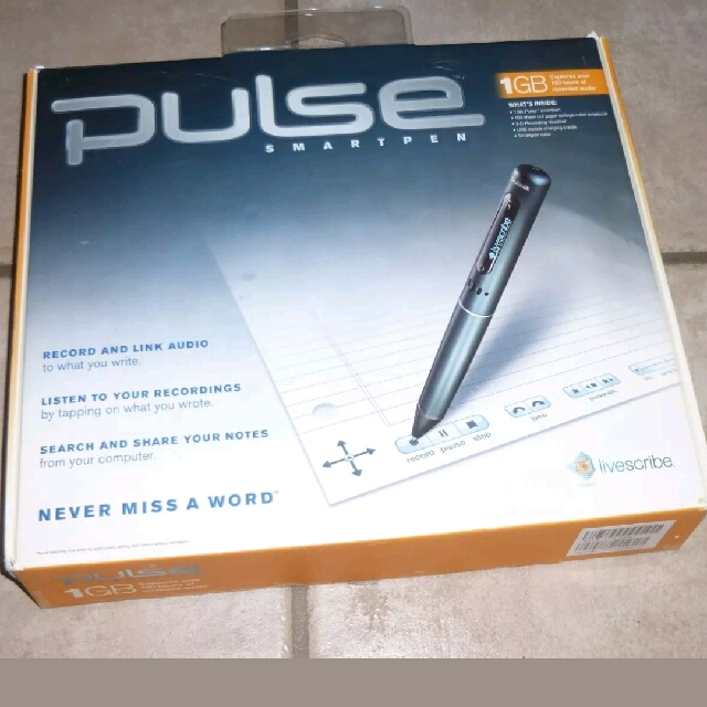Livescribe Pulse Smartpen Used ONCE!