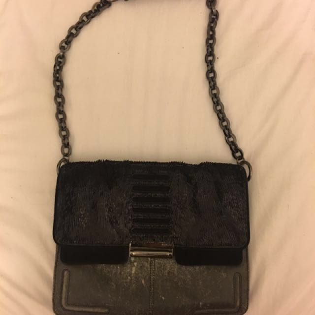 Mimco Black Leather Bag