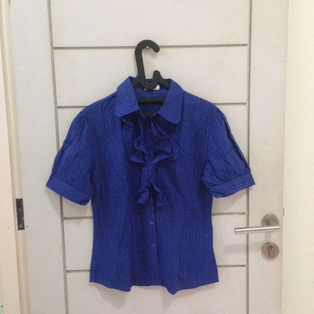 Mint Electric Blue Blouse
