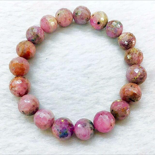 Natural Ruby Crystal Fortune Bracelet