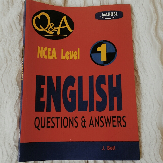 NCEA Level 1 English Questions and Answers Workbook