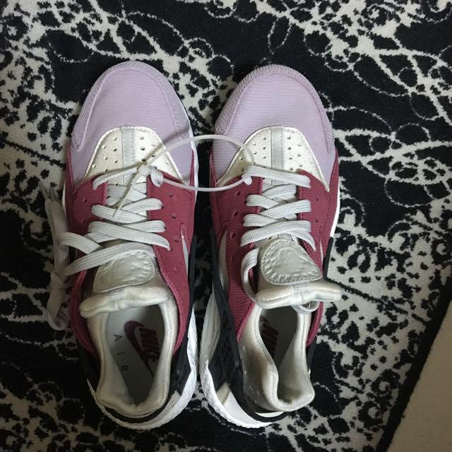 NIKE AIR HUARACHE 粉色 粉紅 粉 武士鞋 全新 真品
