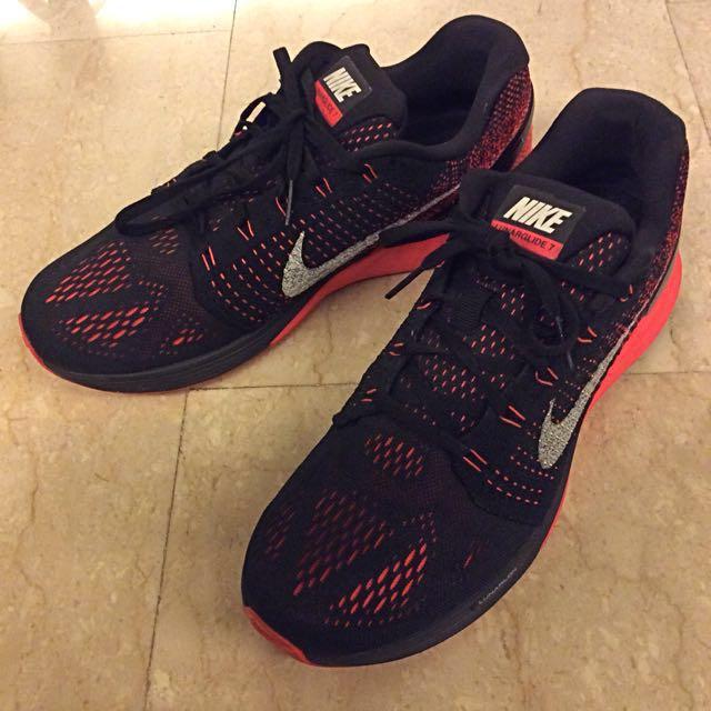 detailed look 743ba 91f1d ... get nike lunarglide 7 vii flyknit black red mens running shoes mens  21450 8c6f1