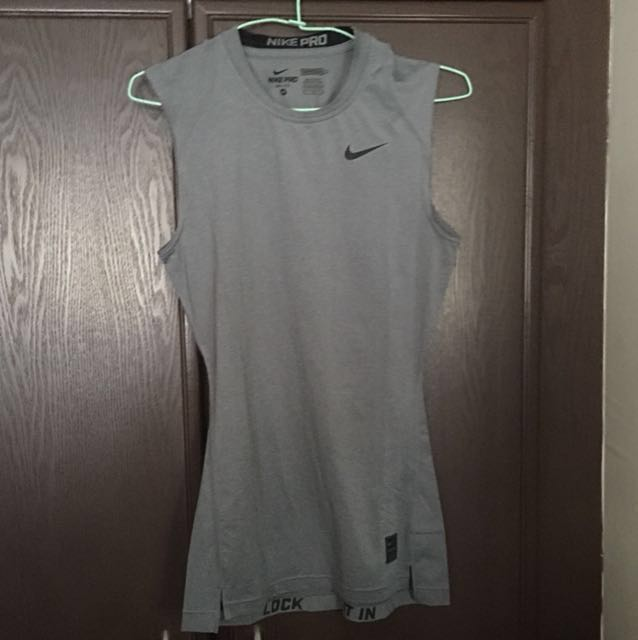 9ce860ce NIKE PRO DRI FIT SLEEVELESS TRAINING SHIRT, Sports, Sports Apparel ...
