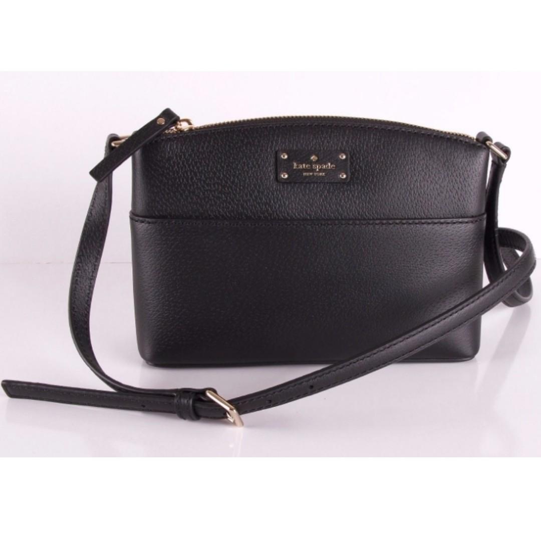 5f7a180f6 Hangbags : NWT Kate Spade Millie Grove Street Leather Crossbody Bag BLACK  wkru4194, Luxury, Bags & Wallets on Carousell