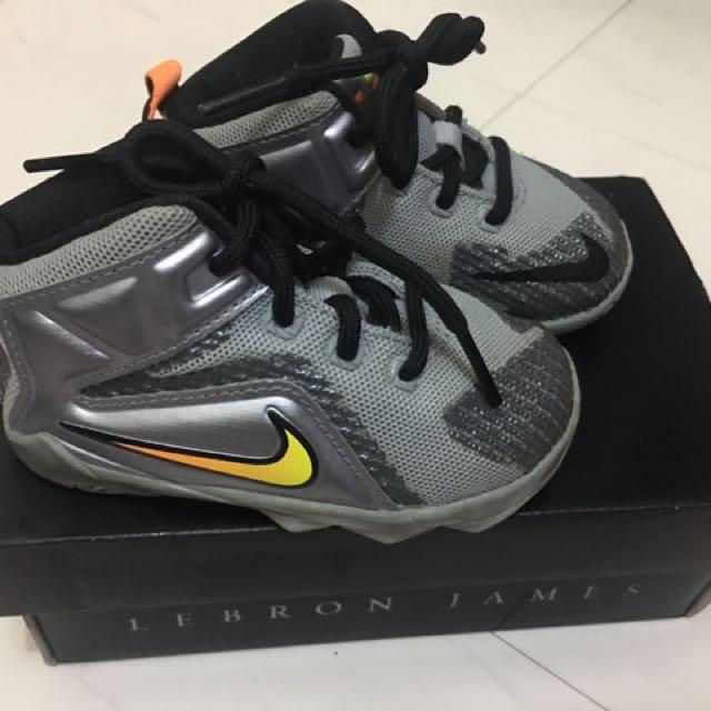 9545f824deb Original Nike shoes for baby Lebron Xll 5c