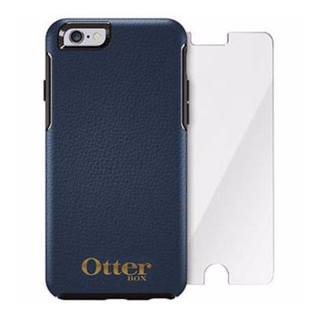 buy popular b2f0c 9c83b Otterbox Symmetry Leather Phone Case Navy and Gold with FREE Alpha Glass  Screen Protector