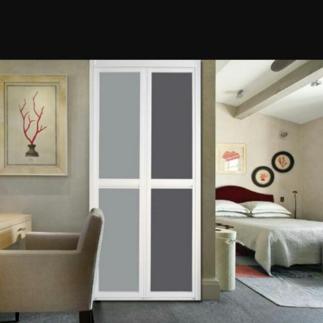 Pintu Lipat Bifold Bilik Air Tandas Toilet Bathroom Folding Door Home Furniture On Carou