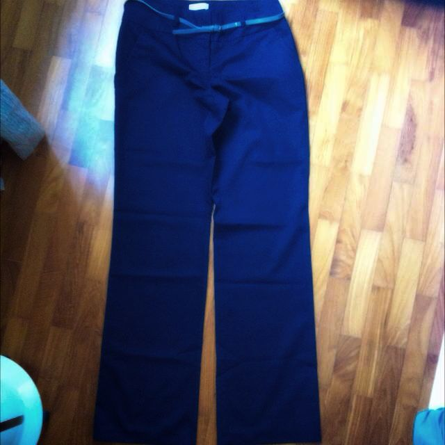 Promod Pants/Trousers UK 10 Navy Blue