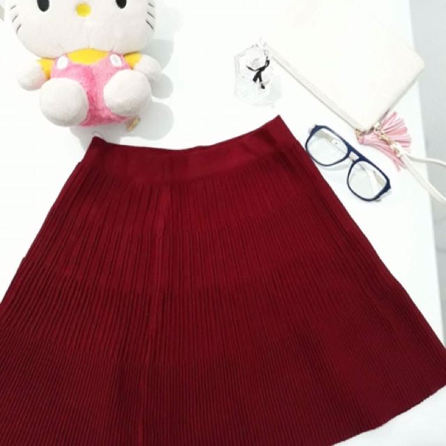 Red Preppy Skirt