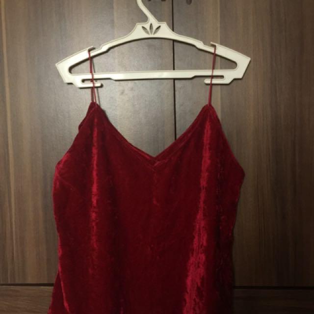 Red Velvet Top