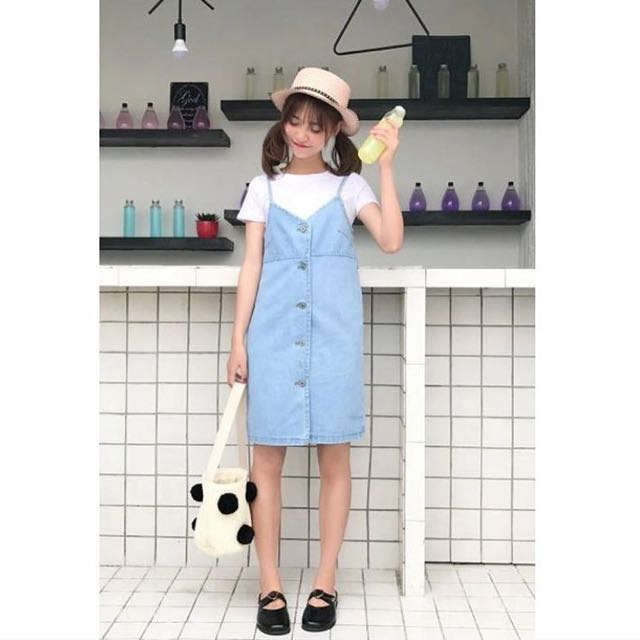 Rok Overall Jeans Import