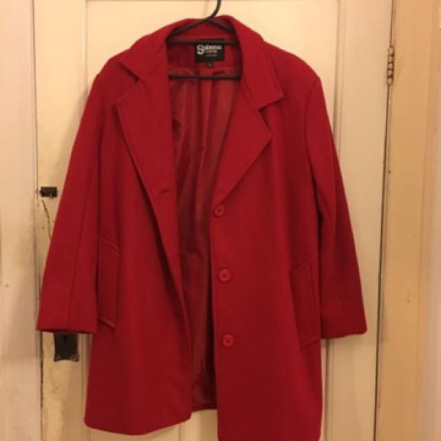 Sabena Fashions Red Coat