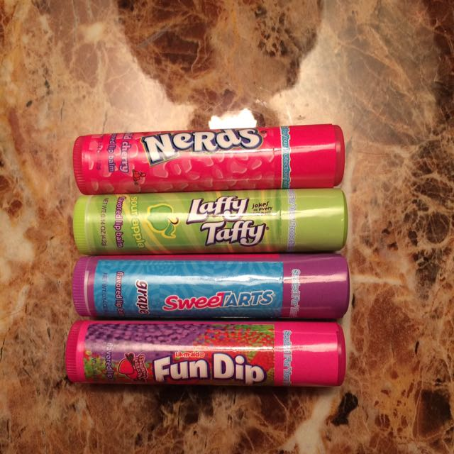 Set of 4 Candy Flavored Chapsticks