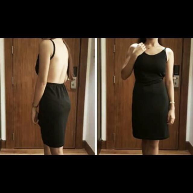 Sexy Back Less Dress