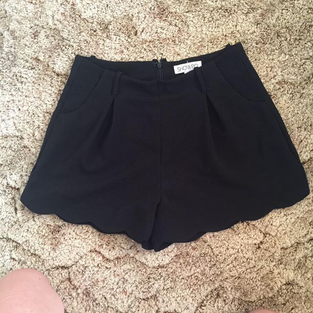 Showpo Tailored Scallop Hem Shorts