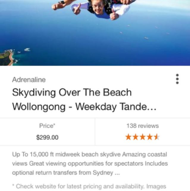 Skydiving woolongong