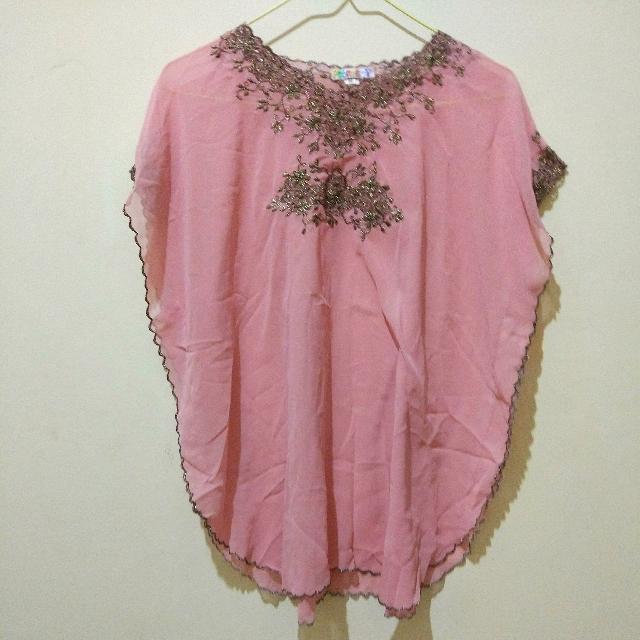 Soft Pink Kaftan Blouse