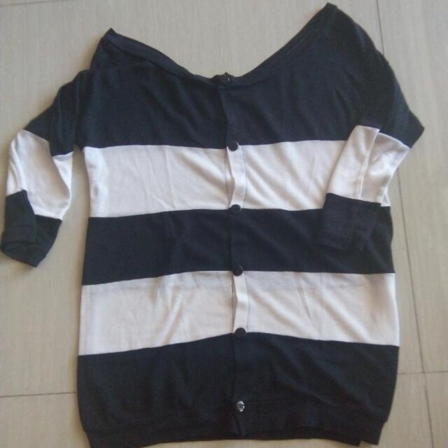 #sss  cardigan black white