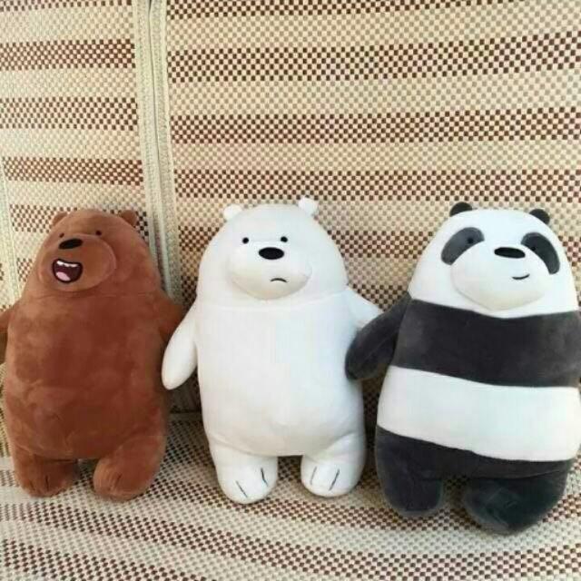 Standing we bare bear plushie