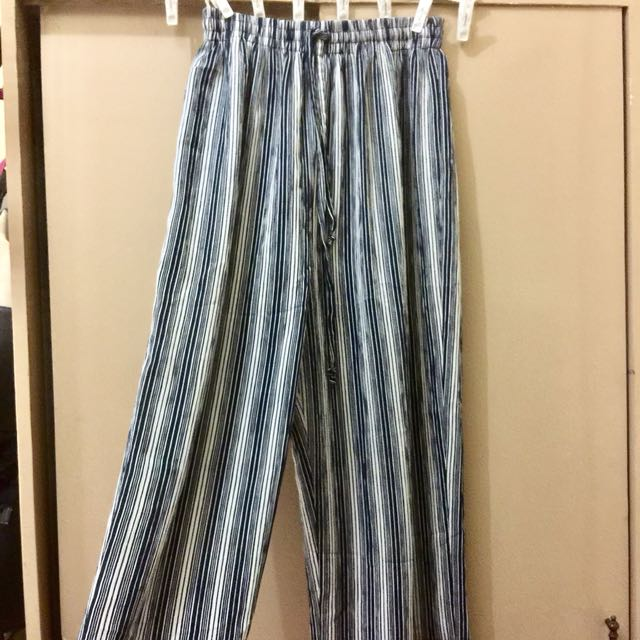 Stripped Wide Legged Pants