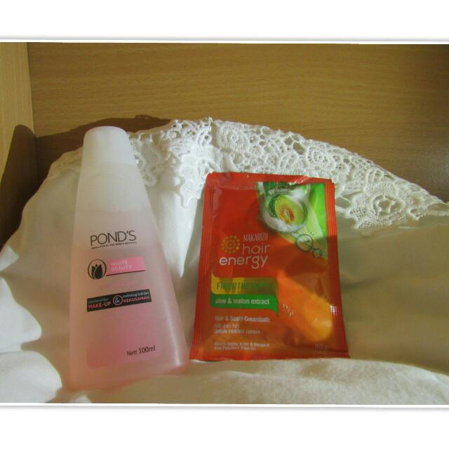 Pond's White Beauty Shake&Clean-Makarizo Hair Energy
