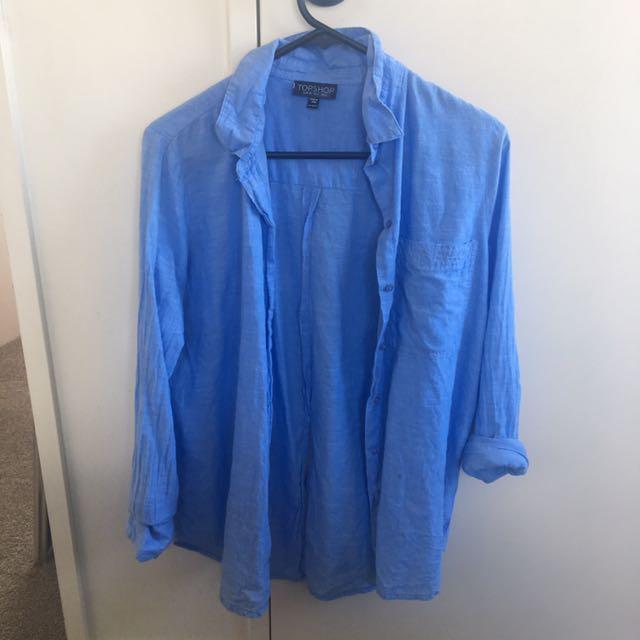 Topshop Blue Shirt