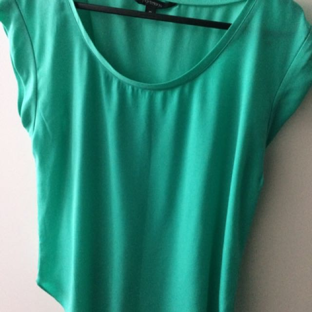 Turquoise green Portmans top size 8