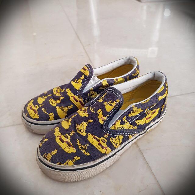 c1ea75bd70 Vans x The Beatles Slip On Yellow Submarine Kids
