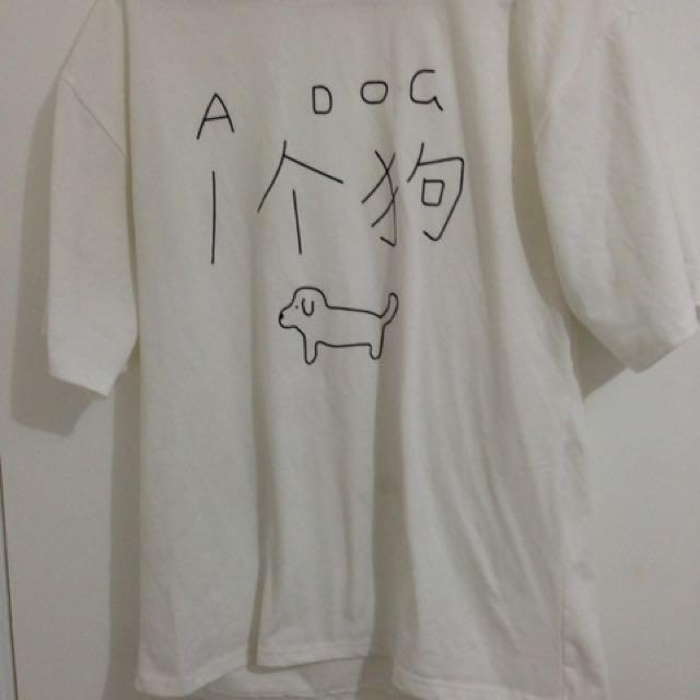 White Elbow Length Print T Shirt
