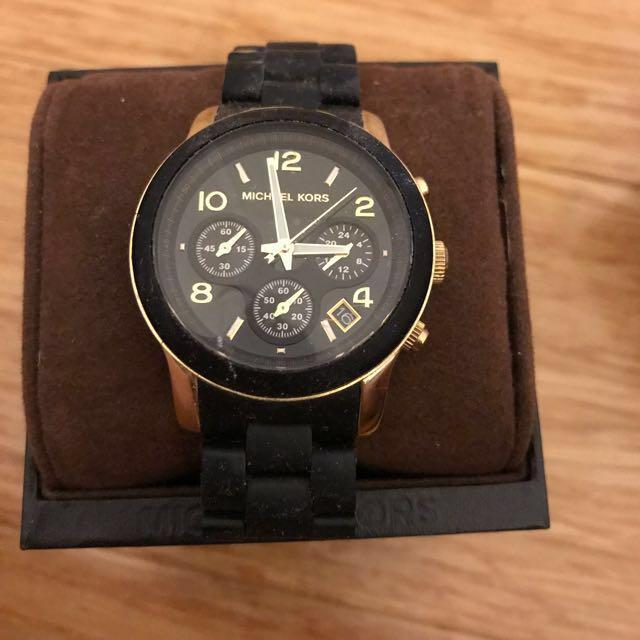 Women's Michael Kors black watch