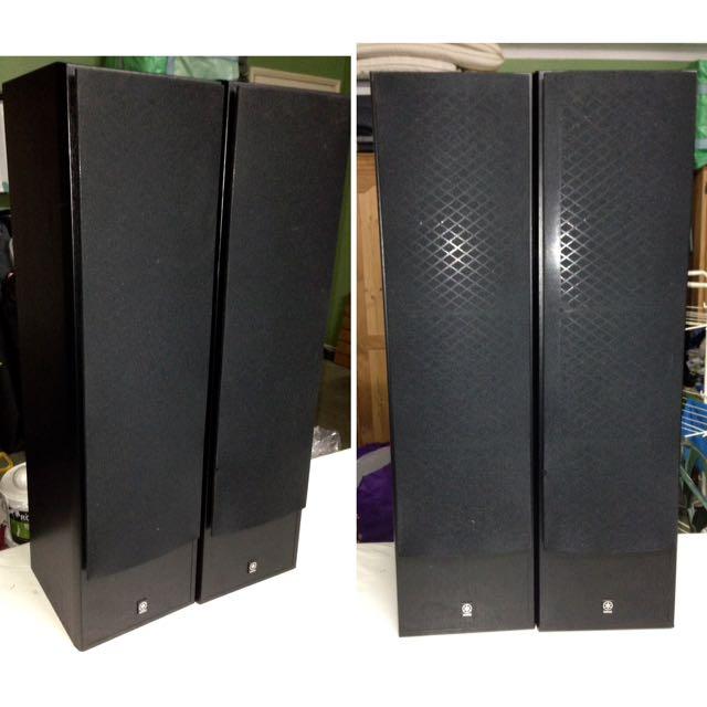 YAMAHA NS-50F Standing Main Speakers (1x Pair) Surround sound + Wires