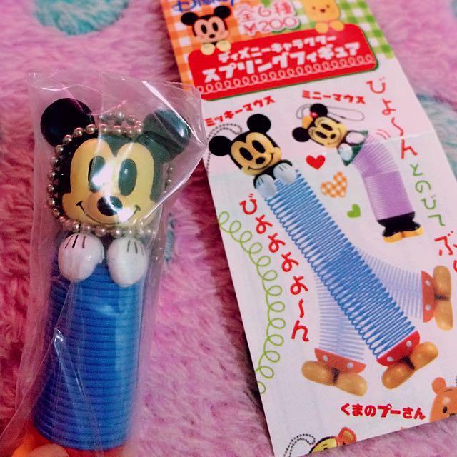 🔆特價中🔆Yujin 絕版Disney 米奇Mickey 彈簧造型吊飾 扭蛋