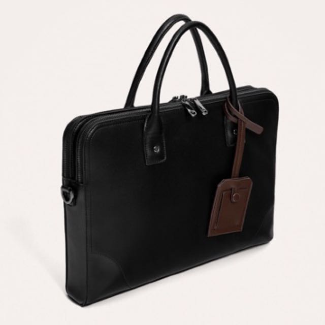 c2d61bbcfd Zara briefcase with label - Brand New, Men's Fashion, Bags & Wallets ...