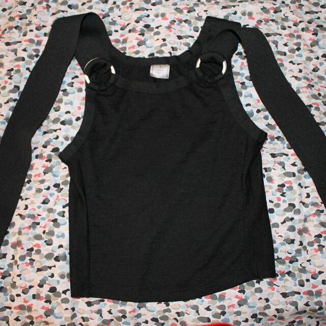 Zara Buckle Black Tank XS