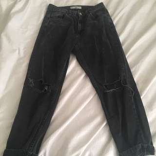High Waisted Topshop Mom Jeans