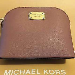 Michael Kors Cindy Saffiano Leather Travel Pouch Authentic
