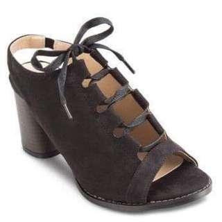 Something borrowed sling back laced up heels