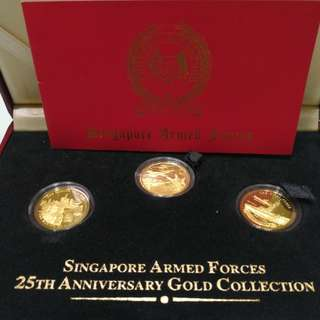 Singapore Armed Forces 25th Anniversary Gold Collection