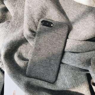限量💡秋冬感斜紋布面手機殼 iphone case