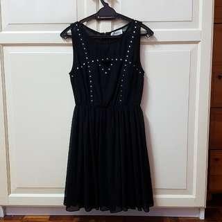 Kitschen Mesh Black Stud Dress