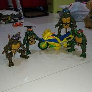 teenage mutant ninja turtles flipping figures tmnt