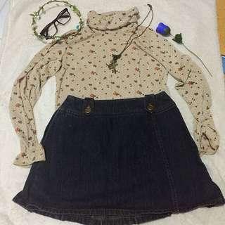 Turtle neck top & nemin skirt