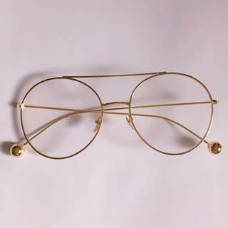 Gold glasses