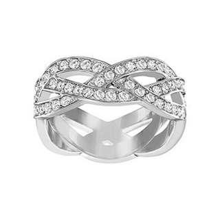 Swarovski White Crystal Braided Ring - BRAND NEW