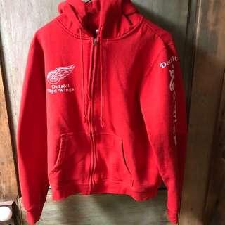 Red Detroit red wings zip up hoodie