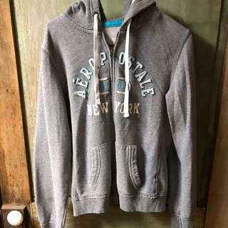 Aeropostale larger grey Zip up hoodie