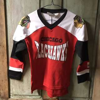 Vintage 90s mighty might Chicago black hawks jersey