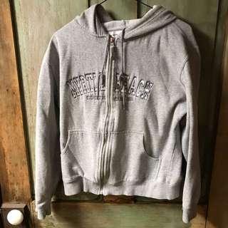 Myrtle beach zip up grey hoodie